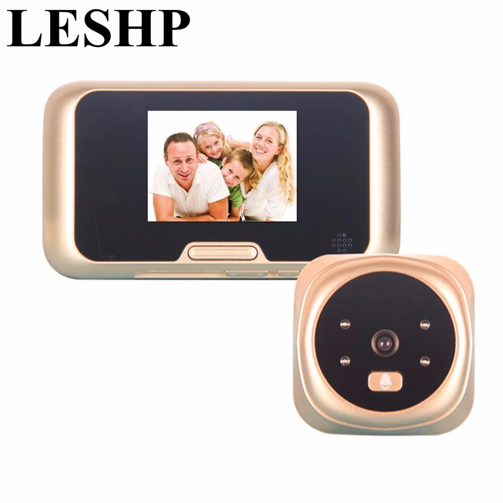 LESHP 3.0 inch TFT LCD Digital Wireless Doorbell Zoom Camera Peephole Viewer 4 IR LED with night version Doorbell QR-09 dc v100 15mp cmos digital camera w 5x optical zoom 4x digital zoom sd slot pink 2 7 tft