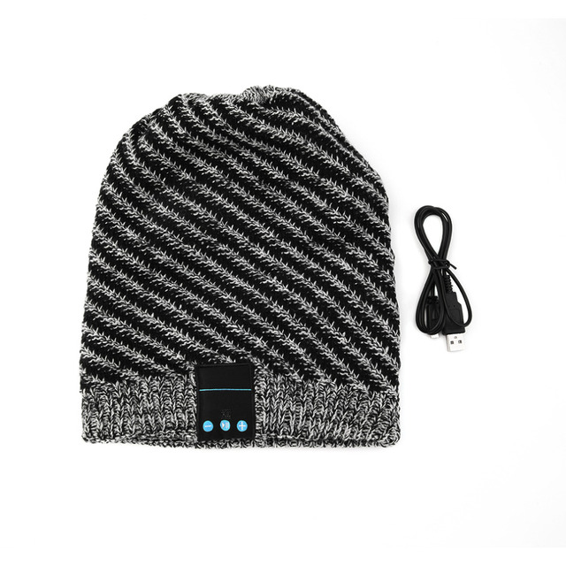 Fashion Unique Soft Warm Hat Wireless Bluetooth Music Knit Hat with Handsfree Smart Cap Headset For Phones
