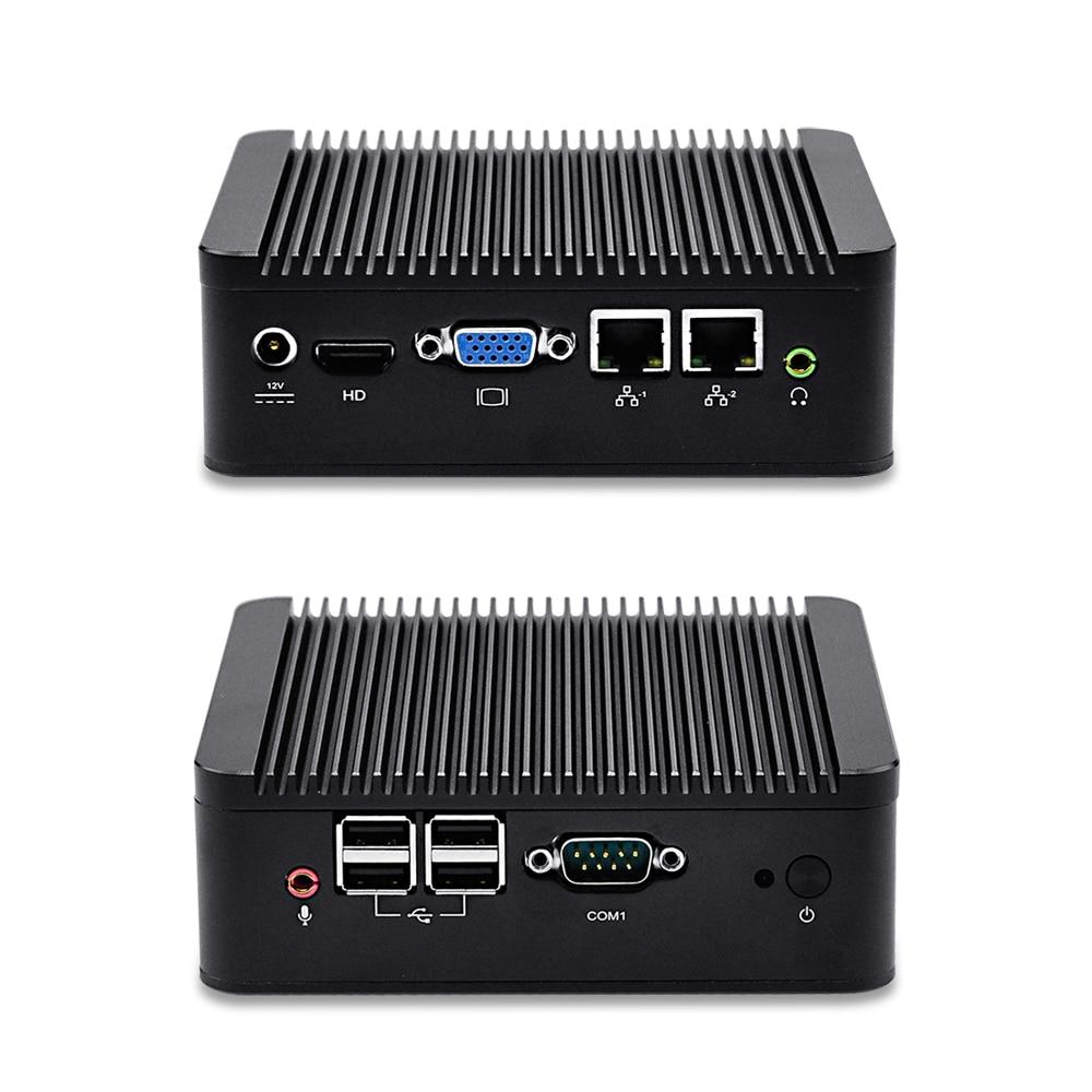 Dual LAN Mini Industrial PC Win 7/8/10, Linux, pfSense OS, QOTOM-Q100S Dual core Mini PC with 2 LAN Ports fanless nano itx board q1800g2 p j1800 dual core dual lan 4 com dc 12v vga dual display dc 12 12 cm win 7 win 10 linux wol pxe