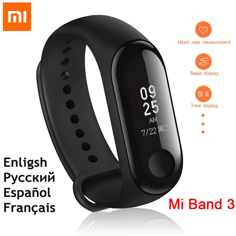 Englisch Version!!! neue original xiaomi mi band 3 armband mi band 3 Smart Armband tracker android xiao mi mi 3 band herz rate
