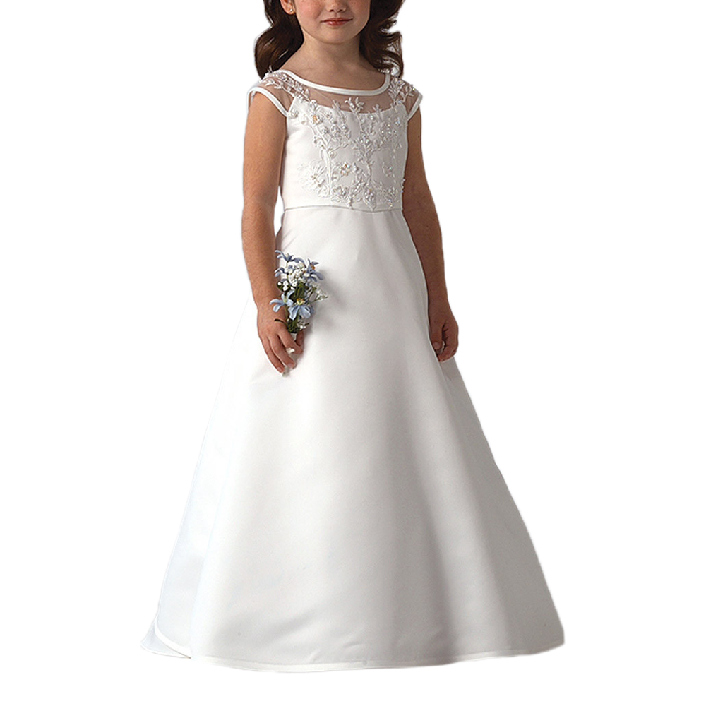 White lace apron wedding - Abaowedding Customise White Holy First Communion Dresses For Girls Vestidos De Comunion Para Ninas 2017 Lace