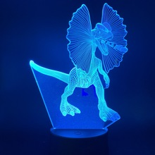 Led Night Light Animal Angry Dinosaur with Big Ear for Kid Child Birthday Gift As Bedroom Study Room Decorative 3d Illusion Lamp
