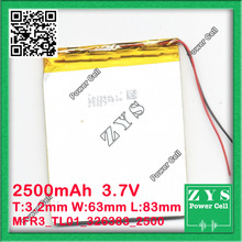 306080 three.7V 2500mah Lithium polymer Battery with Safety Board For PDA Pill PCs Digital Merchandise Free Transport three.2x63x83mm