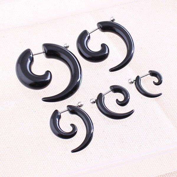 HTB1QZ0gQFXXXXafXFXXq6xXFXXXo Rare Unisex Spiral Ear Taper Snail Ear Expander Body Piercing Jewelry - 2 Colors