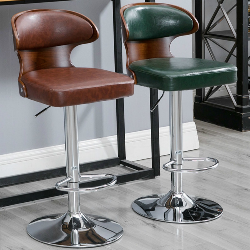 Ultimate Sale╔Bar Chair Stool Tabouret-De-Bar Solid-Wood No Desk Cash-Register Cadeira Backrest Front