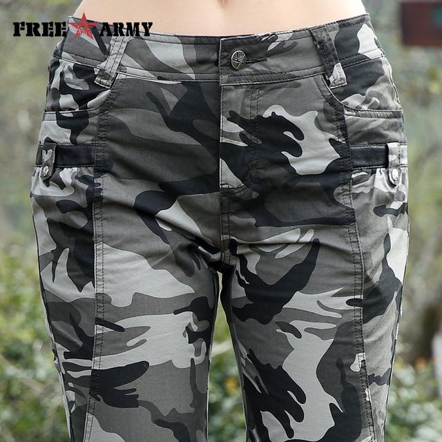 Freearmy Brand New Fashion Summer Style Knee-Length Short Trousers Women's Military Style Camouflage Ladies Short Pants  Cotton  4