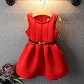 Цветок девушки принцесса жилет платье малышей детские рождественские платье 2-8years дети осенняя одежда