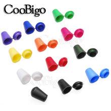 50 pçs colorido plástico cabo termina sino rolha com tampa bloqueio toggle clipe paracord roupas saco esporte cadarço corda peças