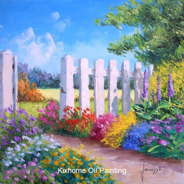 Decora White fence by Jean Marc famous oil painting