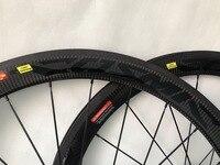 700C 50 мм карбоновые шоссейные колеса 23 мм ширина клинчерная трубчатая 3 к саржевая ткань шоссейный велосипед Карбоновые колеса велосипедные