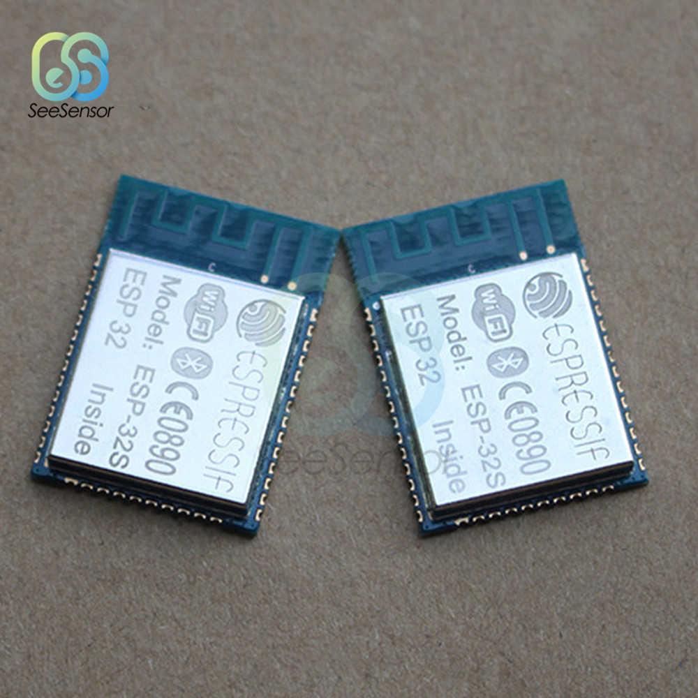 ESP32S ESP-32S WiFi وحدة بلوتوث ثنائي النواة وحدة المعالجة المركزية منفذ إيثرنت وحدة المعالجة المركزية MCU اللاسلكية شبكة مجلس بناء على ESPRESSIF