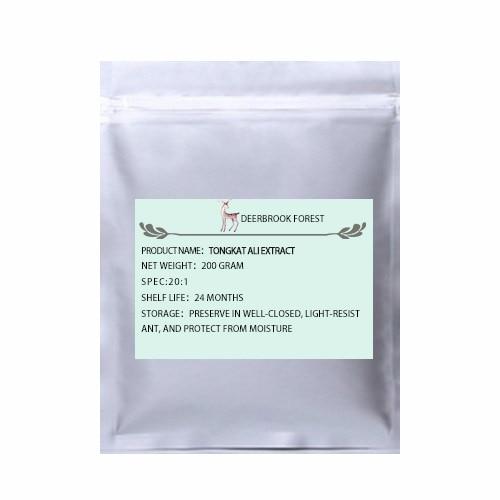 USDA и EC Сертифицированные Органические Tongkat Ali экстракт 20:1 - Цвет: 200g(7.06oz)