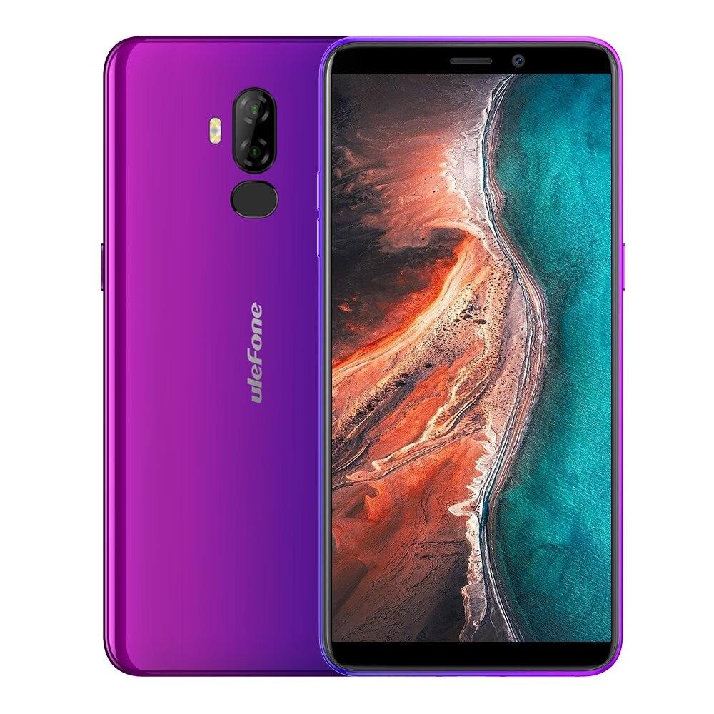 Téléphone intelligent Ulefone P6000 Plus Android 9.0 6350 mAh 6.0 pouces 18:9 HD + MT6739 Ouad Core 3 GB 32 GB téléphone portable avec identification faciale