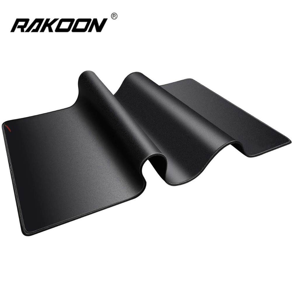 Rakoon Large Gaming Mouse Pad Natural Rubber Anti-slip PC Computer Mousepad Desk Mat Locking Edge For CS GO LOL Dota Gamer