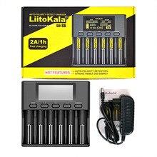 LiitoKala Lii-S6 Lii-PD4 Lii-500 Battery Charger 18650 6-Slot Car-Polarity Detect For 26650 21700 32650 AA AAA Batteries