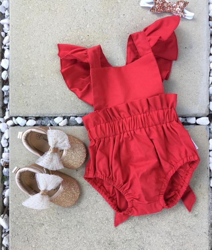 INS Girls Ruffles Bodysuit Summer Cute Kids Bodysuit Princess Novelty Toddles Clothes Free Shipping