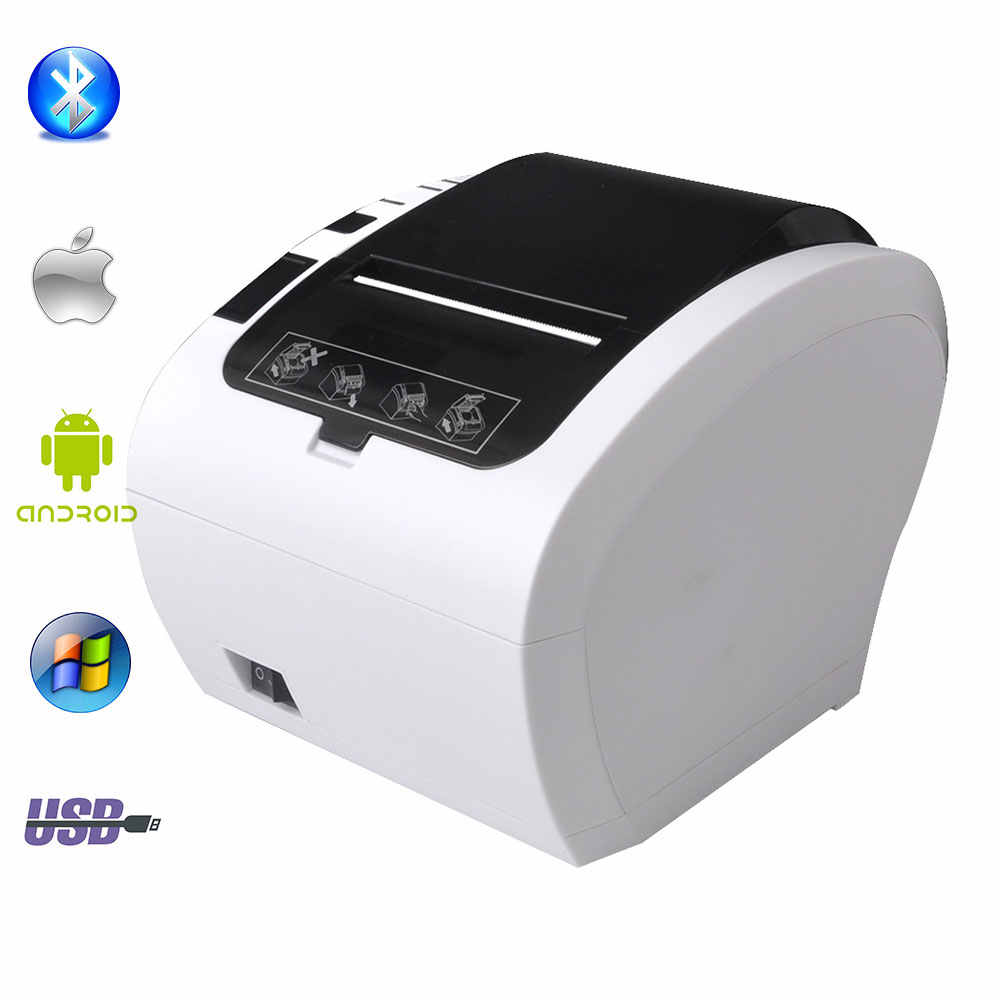 GZ8002 80 Mm Penerimaan Termal Printer Pemotong Otomatis Dapur Restoran POS Printer USB + Serial + Ethernet WIFI Bluetooth Printer