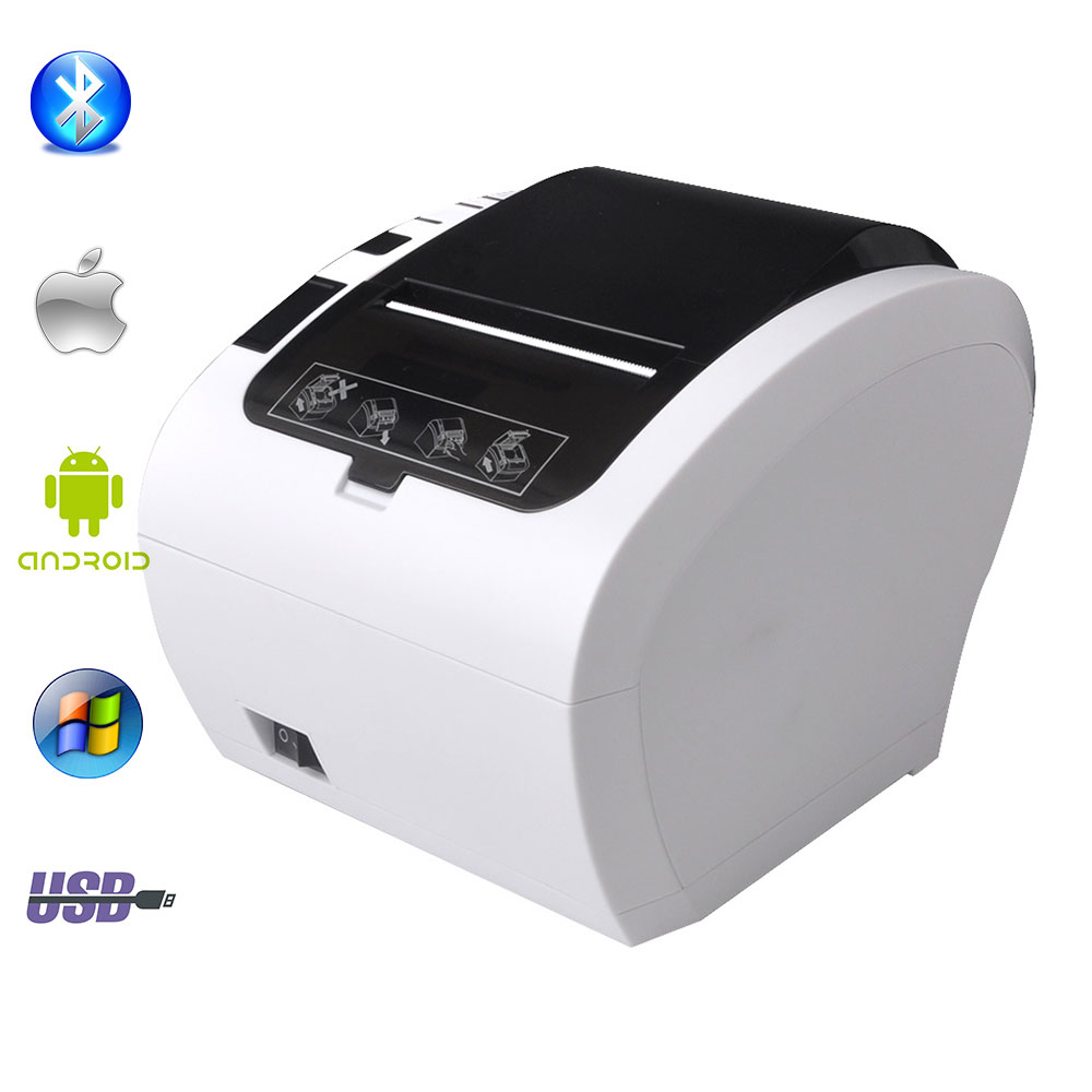 "GZ8002 80 מ""מ תרמי קבלת מדפסת אוטומטי חותך מסעדת מטבח קופה מדפסת USB + סידורי + Ethernet Wifi Bluetooth מדפסת"