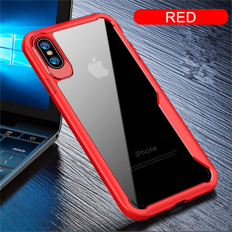 Phone Case For iPhone 5 5S SE 6 6S 7 8 Plus X XR XS Max Cases Full Protection Armor Back Cover For iPhone XR Transparent Funda