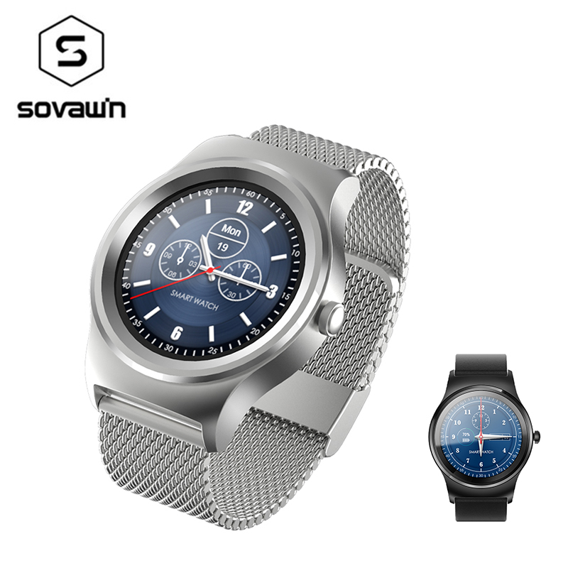 Smartwatch Bluetooth 4.0 Heart Rate Monitor Waterproof Smart Watch Men Phonebook Voice Record Wristwatch For Android IOS SMA-09