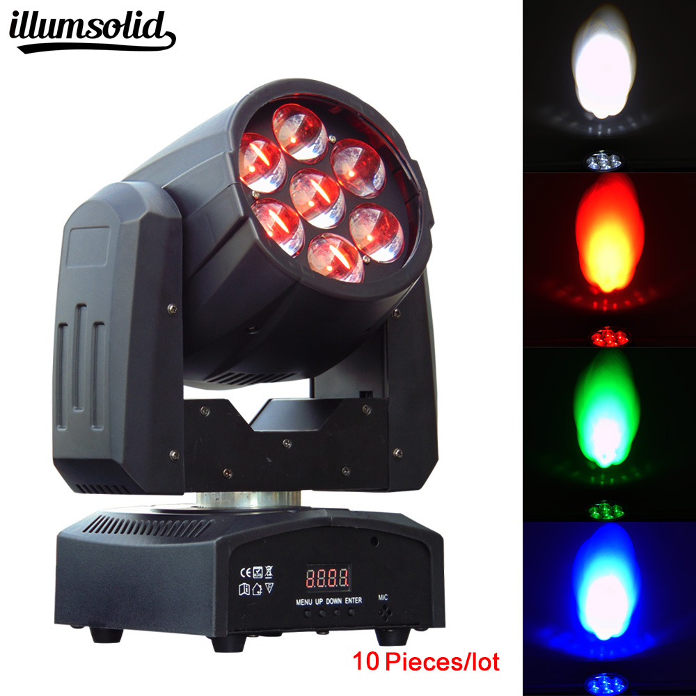10pcs/lot Stage Light 7*12W 4IN1 RGBW zoom LED Moving Head Wash Light Event Party DJ light10pcs/lot Stage Light 7*12W 4IN1 RGBW zoom LED Moving Head Wash Light Event Party DJ light
