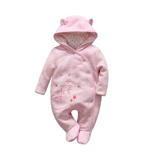 2018 Cute Bear tender Babies girl winter clothes romper baby Outwear climb clothing thick cotton body suit Long Sleeve jumpsuits