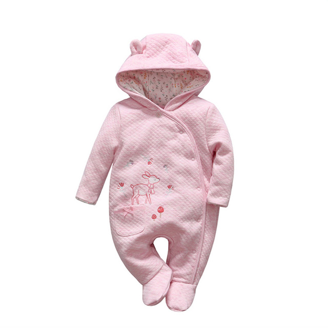 f9b37995b24f0 2018 Cute Bear tender Babies girl winter clothes romper baby Outwear climb  clothing thick cotton body
