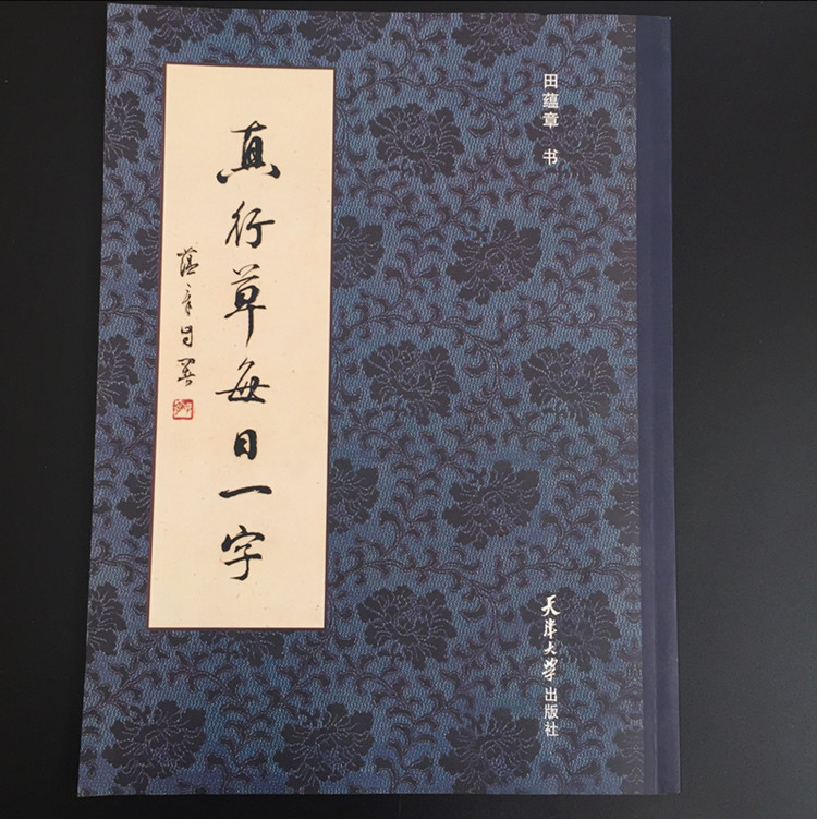 True cursive word of the day Tian Yunzhang brush calligraphy copybook exercises small cursive script 28*21cm