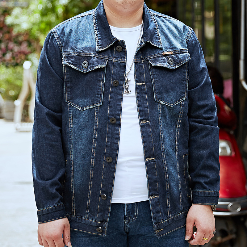 2019 New 6XL 7XL 8XL Me Slim Denim Jackets Hip Hop Fashion Streetwear Solid Male Cotton Motorcycle Jeans Jacket coats Plus Size