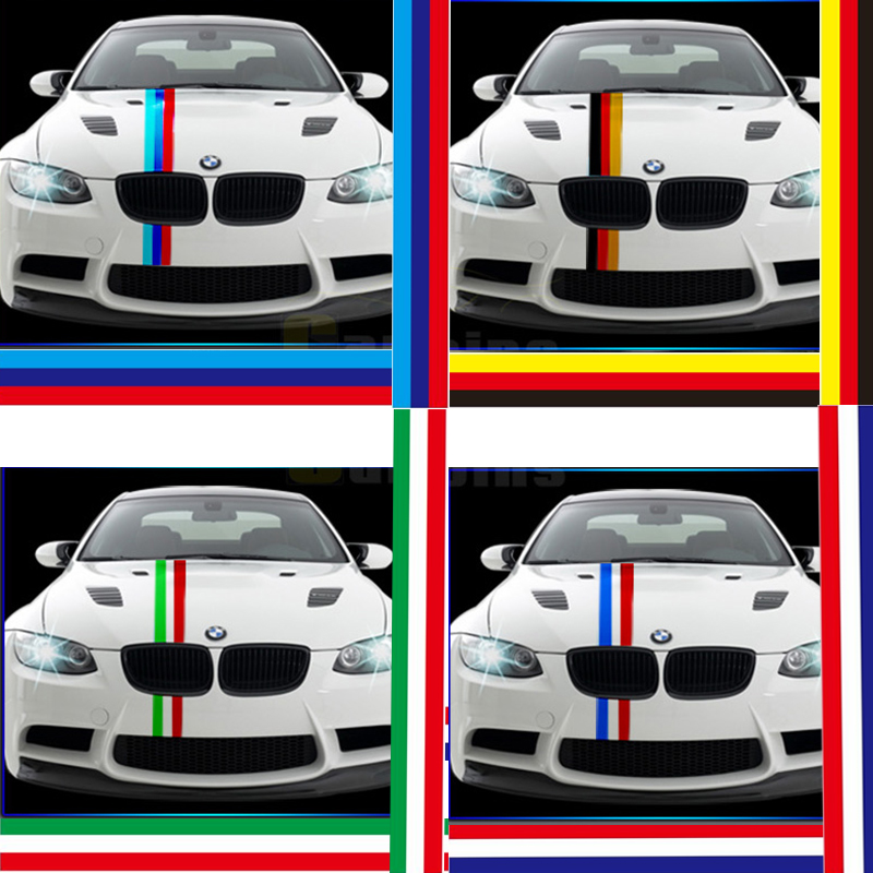 Three Colored Flag Side Racing Stripes France German