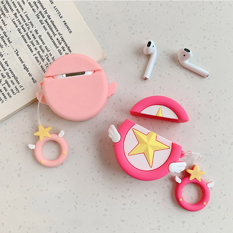 Image 4 - Sailor Moon Transformer For Airpods Case Cute Silicone Bluetooth Earphone Protective Cover Capa Cartoon for Air pods Key Strap-in Earphone Accessories from Consumer Electronics