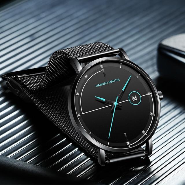 Men Watch Date Top Brand Luxury Japan Movement Quartz Casual Sport Stainless Steel Ultra Thin Waterproof Watch Relogio Masculino 4