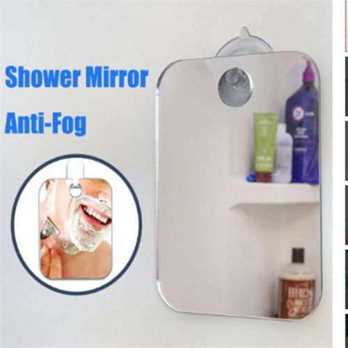 Larger Size More comfortable Anti Fog Free Shaving Shower Mirror High Quality Fogless Washroom Bath Mini Mirror Wall
