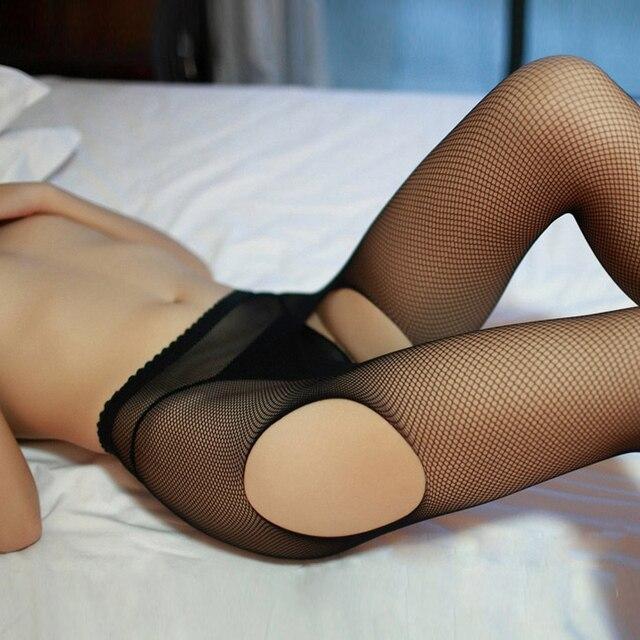 Lady Women Sexy Pantyhose Mesh Fishnet Nylon Tights Long Stocking Jacquard Step Foot Seam Pantyhose High Over the Knee Socks