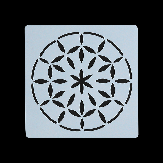 Geometric Template Mandala Stencil for Painting and Dotting