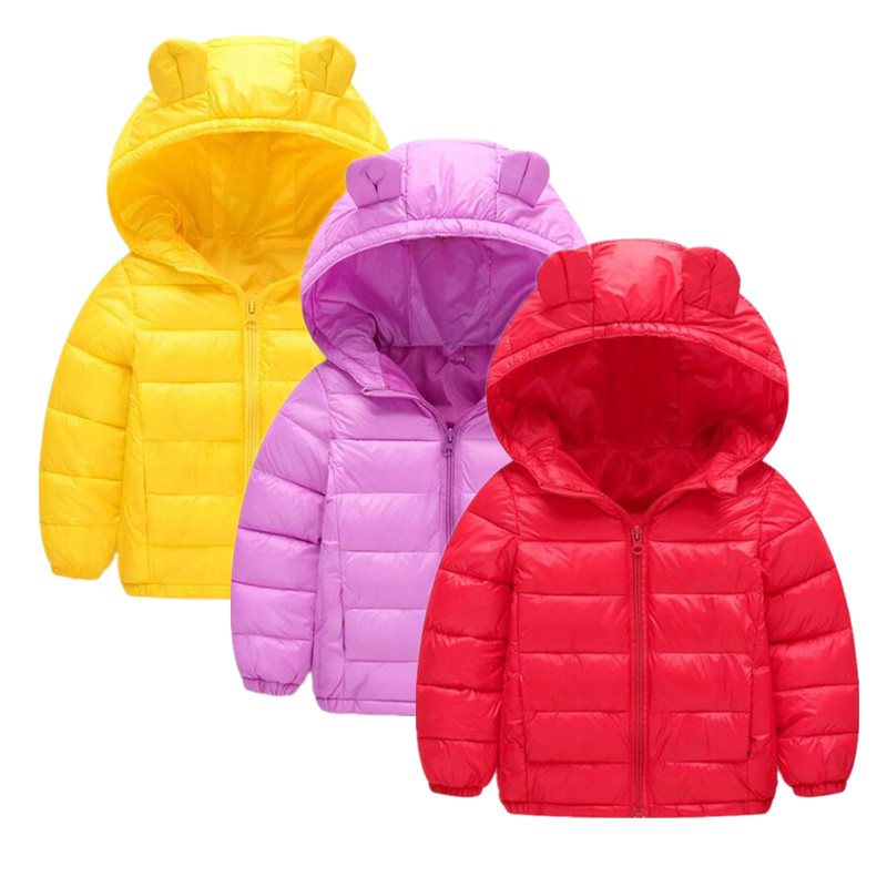 2017 new winter children jacket Outerwear Boy and Girl Winter Warm Down Hooded Coat teenage kids jacket size 1-5 Years