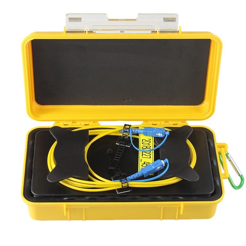 FirstFiber OTDR Launch Cable Box, OTDR Dead Zone Eliminator, OTDR Fiber Rings, Fiber Reel, 500m FC/SC/LC