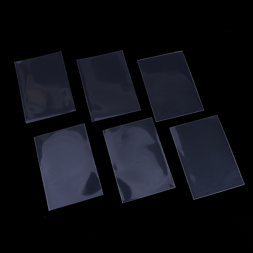 50pcs/set 66*91mm Transparent Color card sleeves card protector holder for mtg yugioh pokemon cards board game image