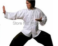Kung fu shirt 100% cotton old coarse tang suit male long sleeve tai chi clothing chinese style clothes multicolor
