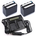 2pc 7.4V 7000mAh NP-F960 NP-F970 NP F960 F970 rechargeable batteries + LCD Dual Charger for SONY HVR-HD1000 HVR-HD1000E HVR-V1J