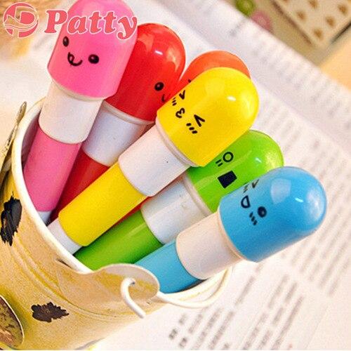 120 pcs Lot Wholesale vitamin ballpoint pen ballpen pens material escolar canetas school supplies Patty stationery