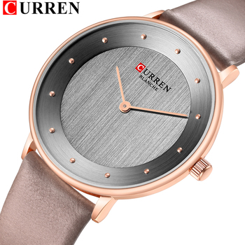 Beautiful Women's Quartz Watches Slim Fashion Leather Ladies Wrist Watch Reloj Mujer CURREN Hot Female Clock Gifts For Women - discount item  47% OFF Women's Watches