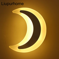 Moon Shape LED Wall Lamp 10W Modern Sconce on The Wall Light Wall Mounted for Bedroom Home Bedside Living Room Indoor Lights MYC