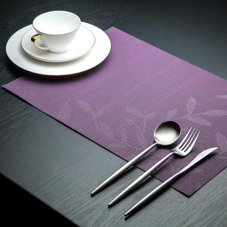 Fyjafon 2 4 6pieces Kitchen Table Mats Set Heat Protection PVC Table Mat Placemats Anti slip