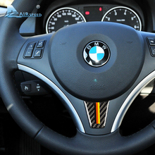 Airspeed for BMW E90 E92 3 Series Interior Carbon Fiber Car Steering Wheel Stickers M Sport 2005-2012 Accessories Car Styling стоимость