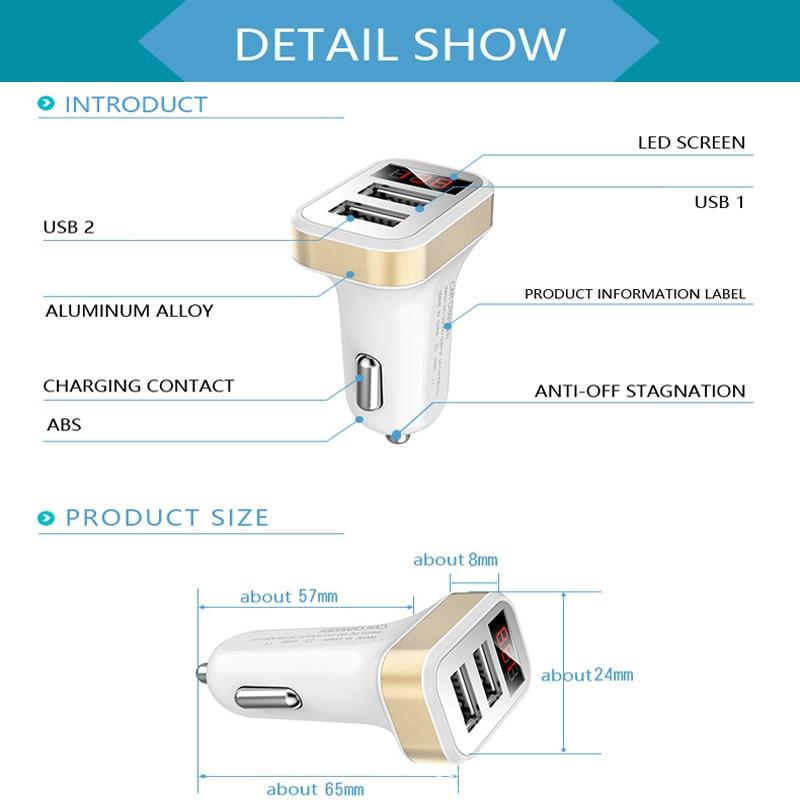 Mini Car-Charger Adapter 3 Port 12V-dən 5V Bluetooth 3.1A USB Car - Avtomobil elektronikası - Fotoqrafiya 2