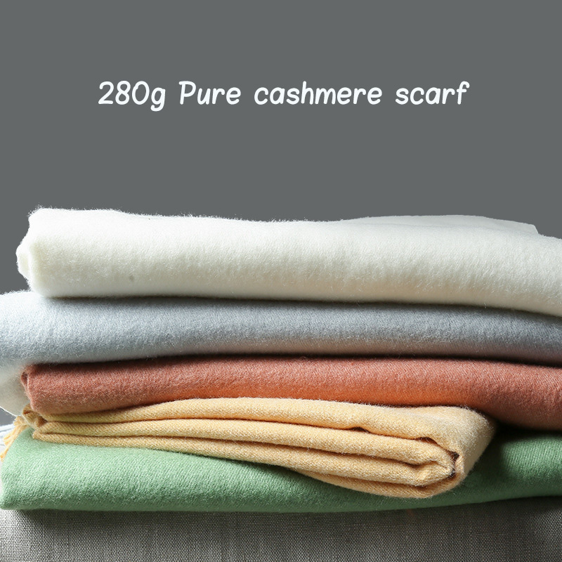 2019 NEW Winter Solid Winter Women Pure Cashmere Scarf Warm Wool Pashmina Wraps And Shawls Female Bandana Long Thick Blanket