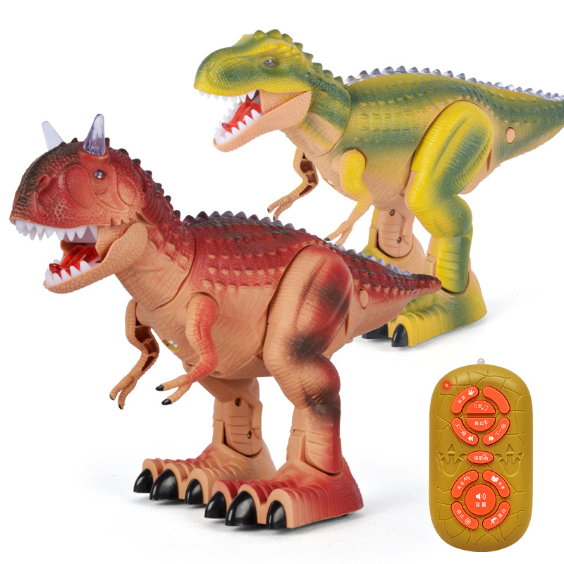 цена Simulation model electric dinosaur remote control early education puzzle function story dinosaur