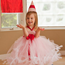 2016 Top quality A sweet Flower Girl Dresses Pink Bow 2-12Year Of atmospheric Draped Ball Gown Wedding Party Kids Party