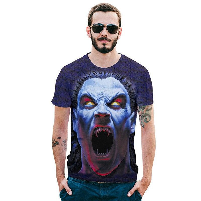printed t-shirts Men Tshirt New Fashion Hot Design 3d Zombie Print Tees Tops Summer Cool High Street Wear t shirt brand homme